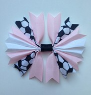 Pink and White Ponytail Holder