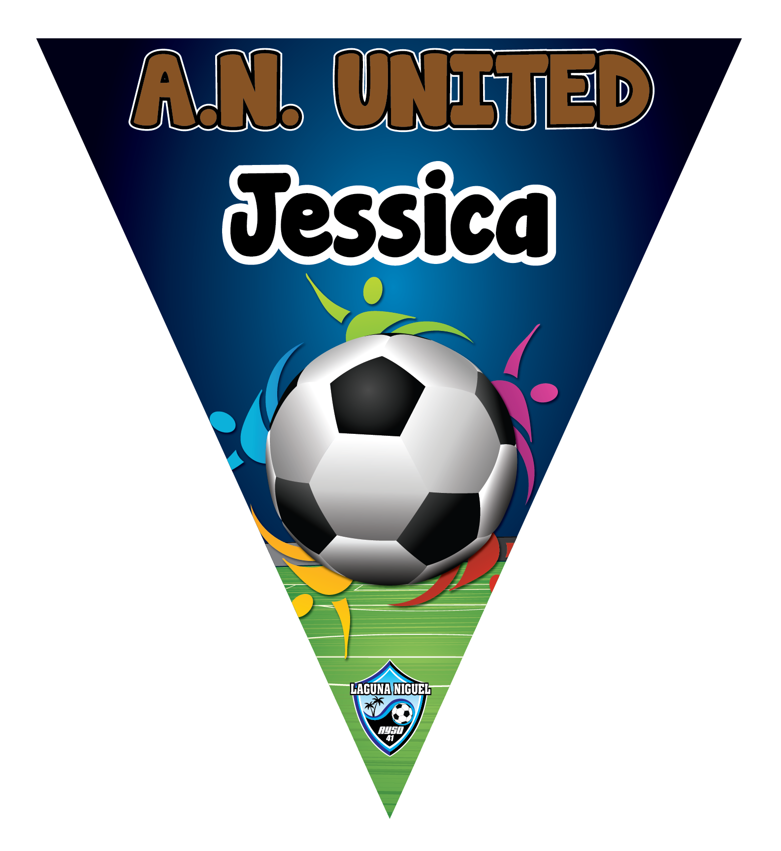 A.N. United  Triangle Individual Team Pennant