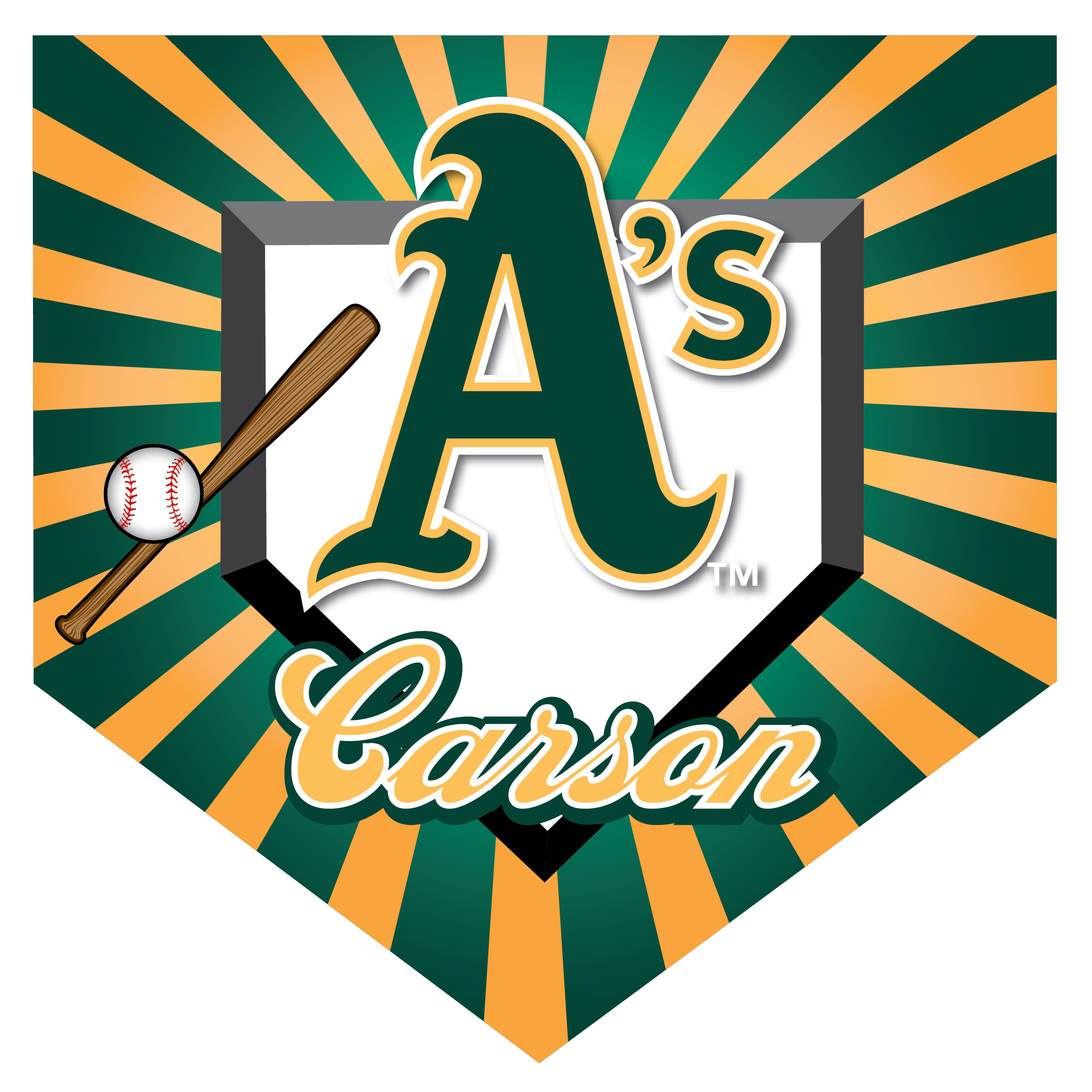 A's (Alternate) Home Plate Individual Team Pennant