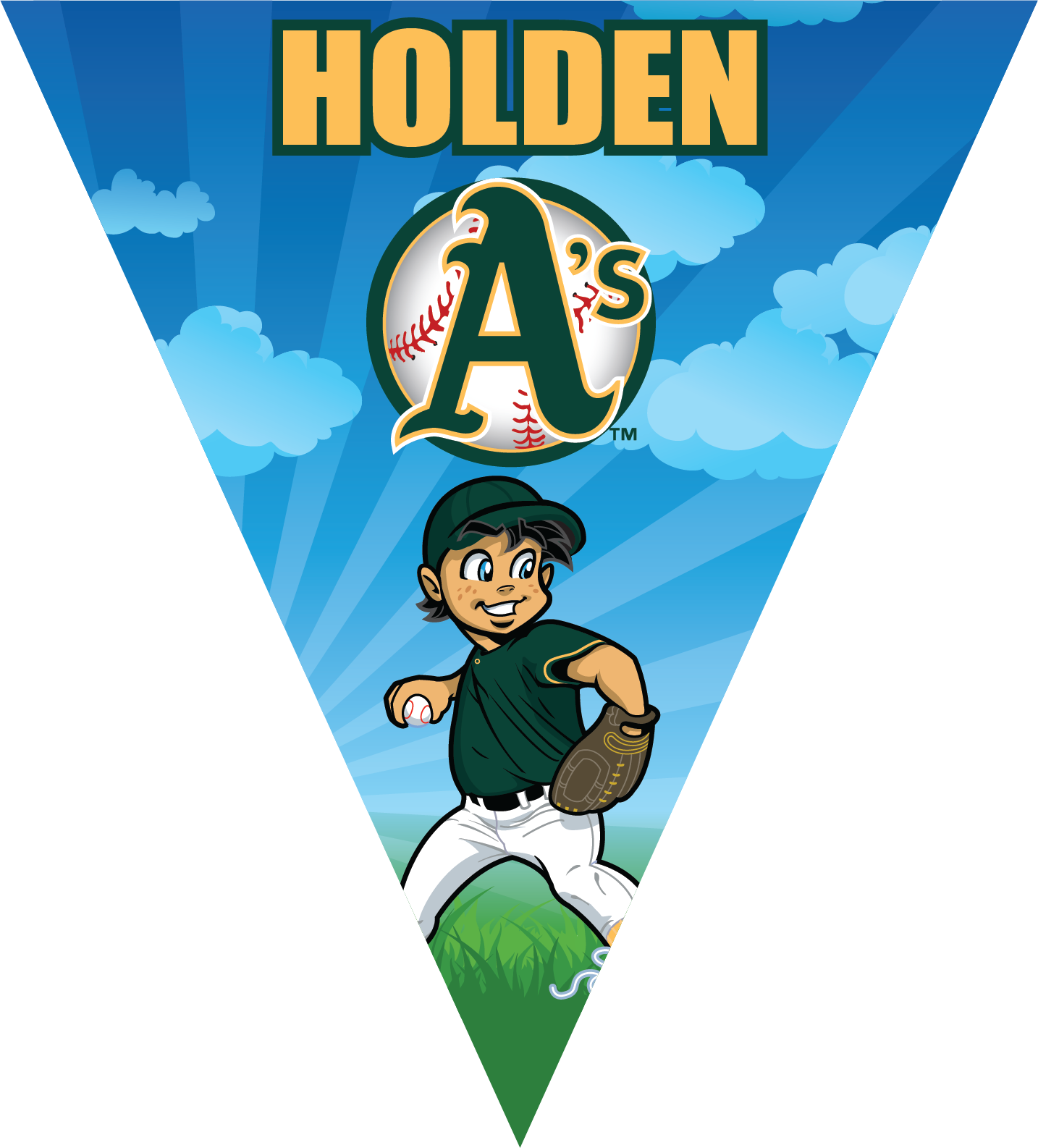 A's (Boys) Triangle Individual Team Pennant