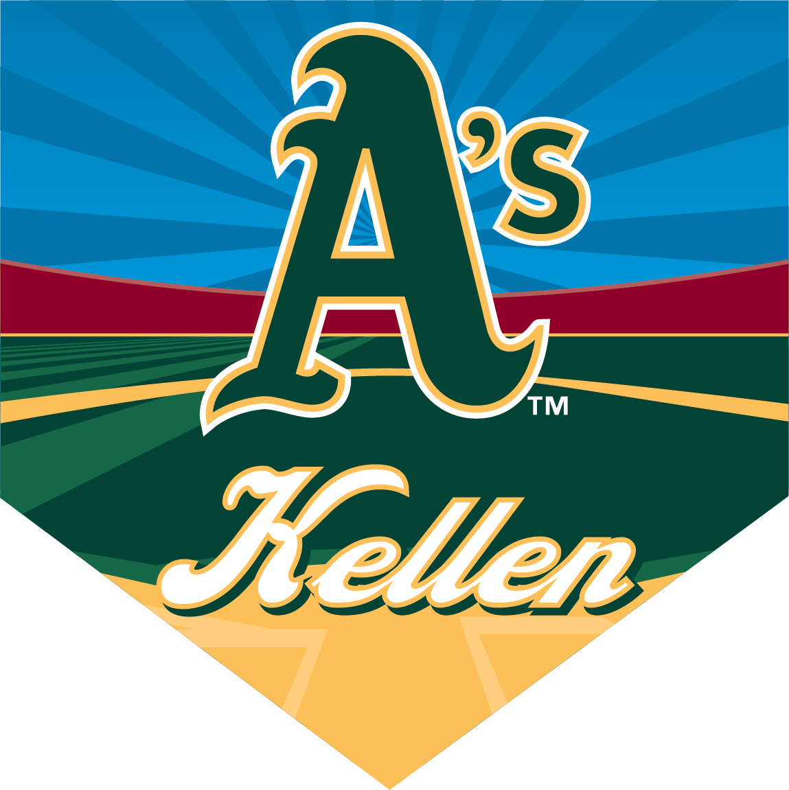 A's Custom Home Plate Banner