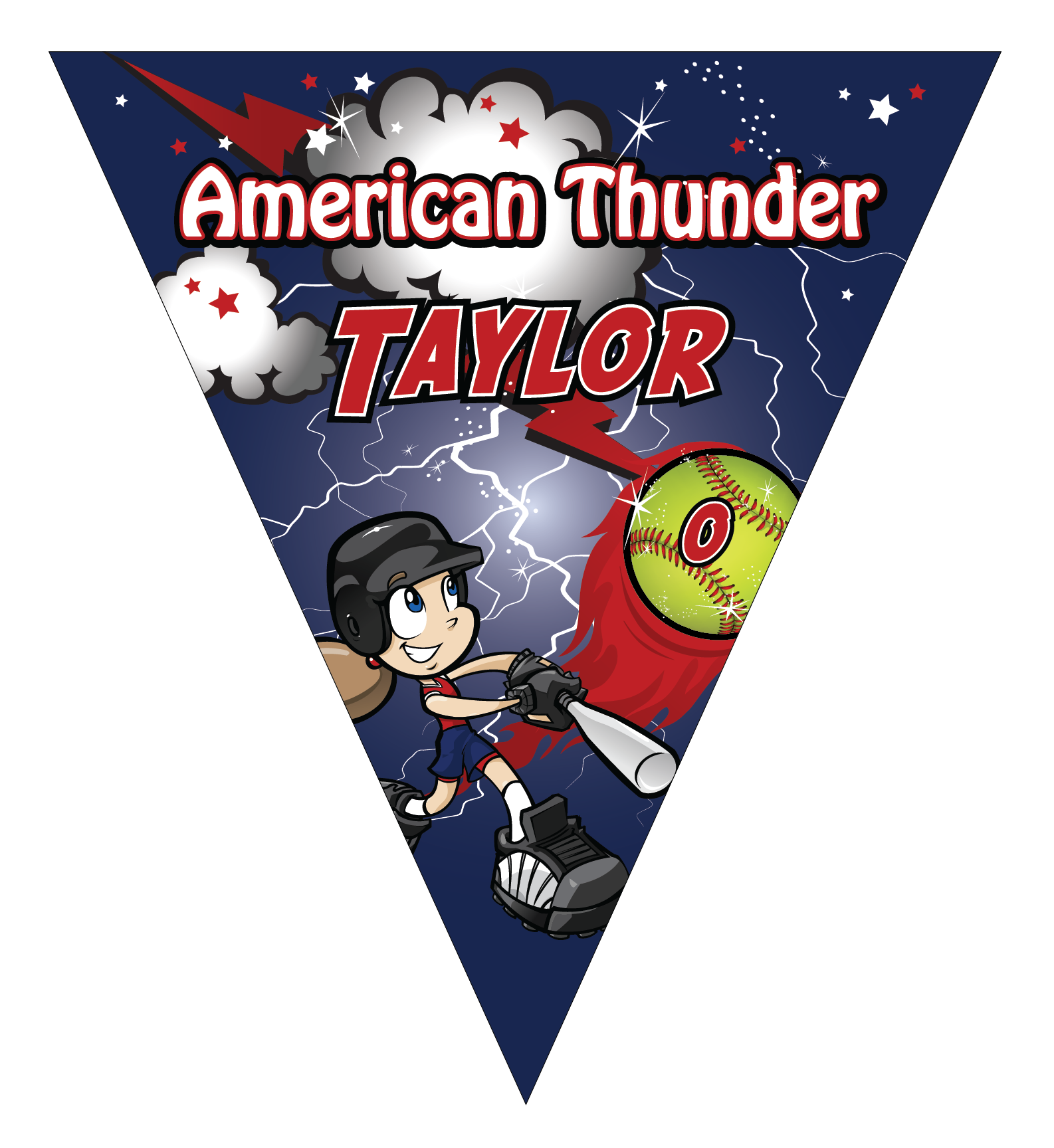 American Thunder Triangle Individual Team Pennant