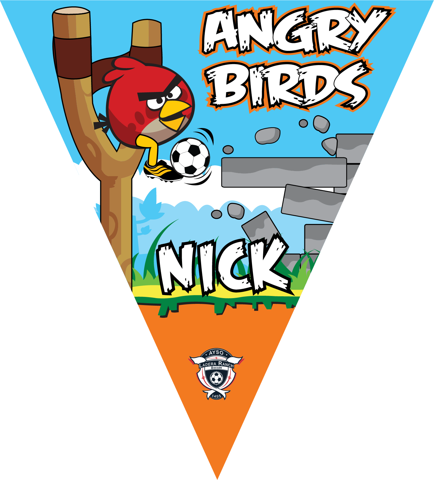 Angry Birds (Red) Triangle Individual Team Pennant