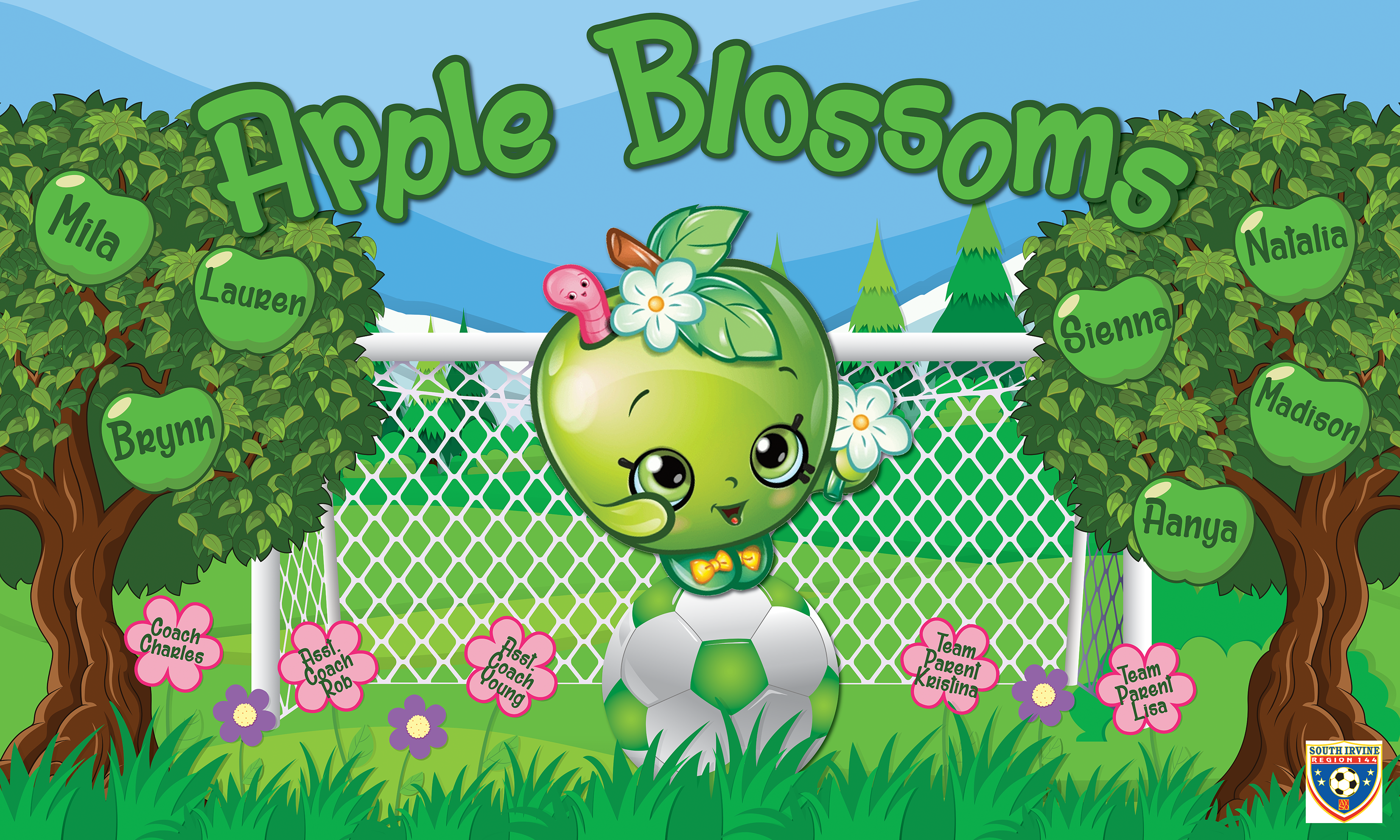 Apple Blossoms Custom Vinyl Banner