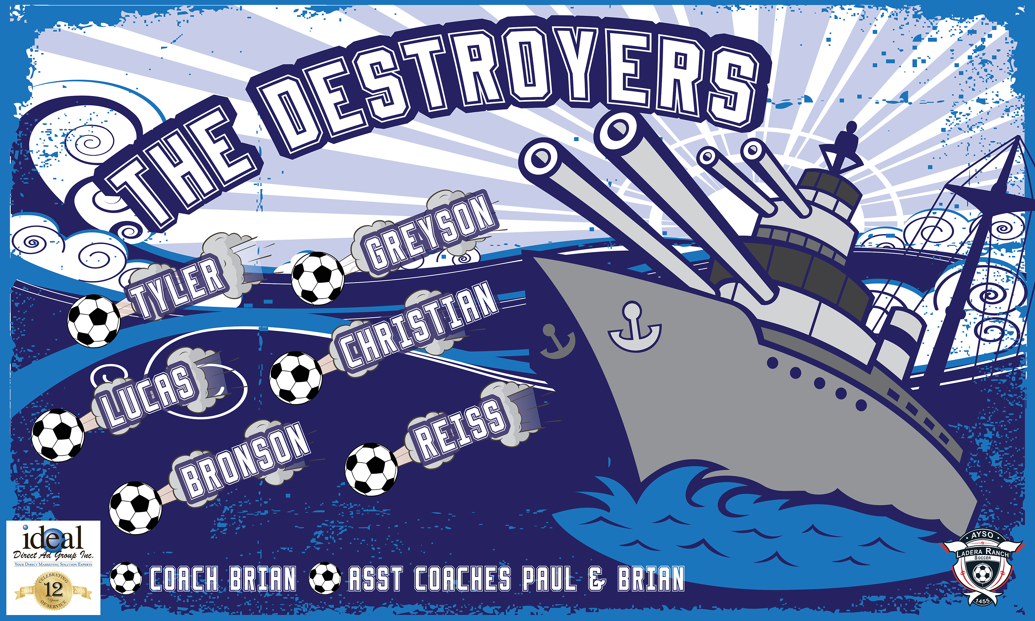 The Destroyers 2 Custom Vinyl Banner