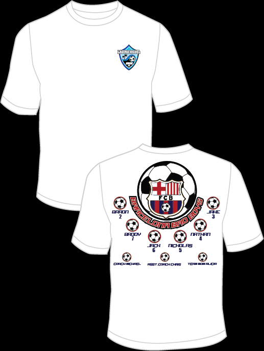Barcelona Bad Boys Practice T-Shirt