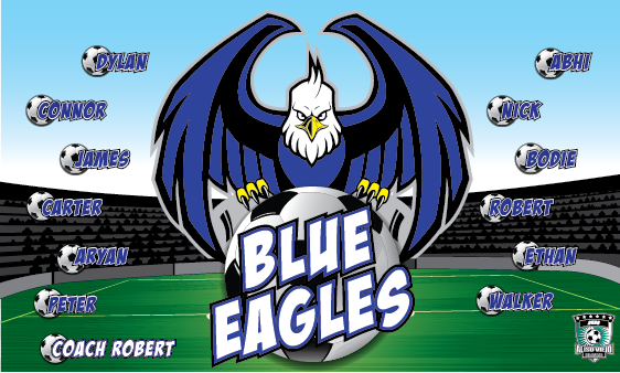 Blue Eagles Custom Vinyl Banner