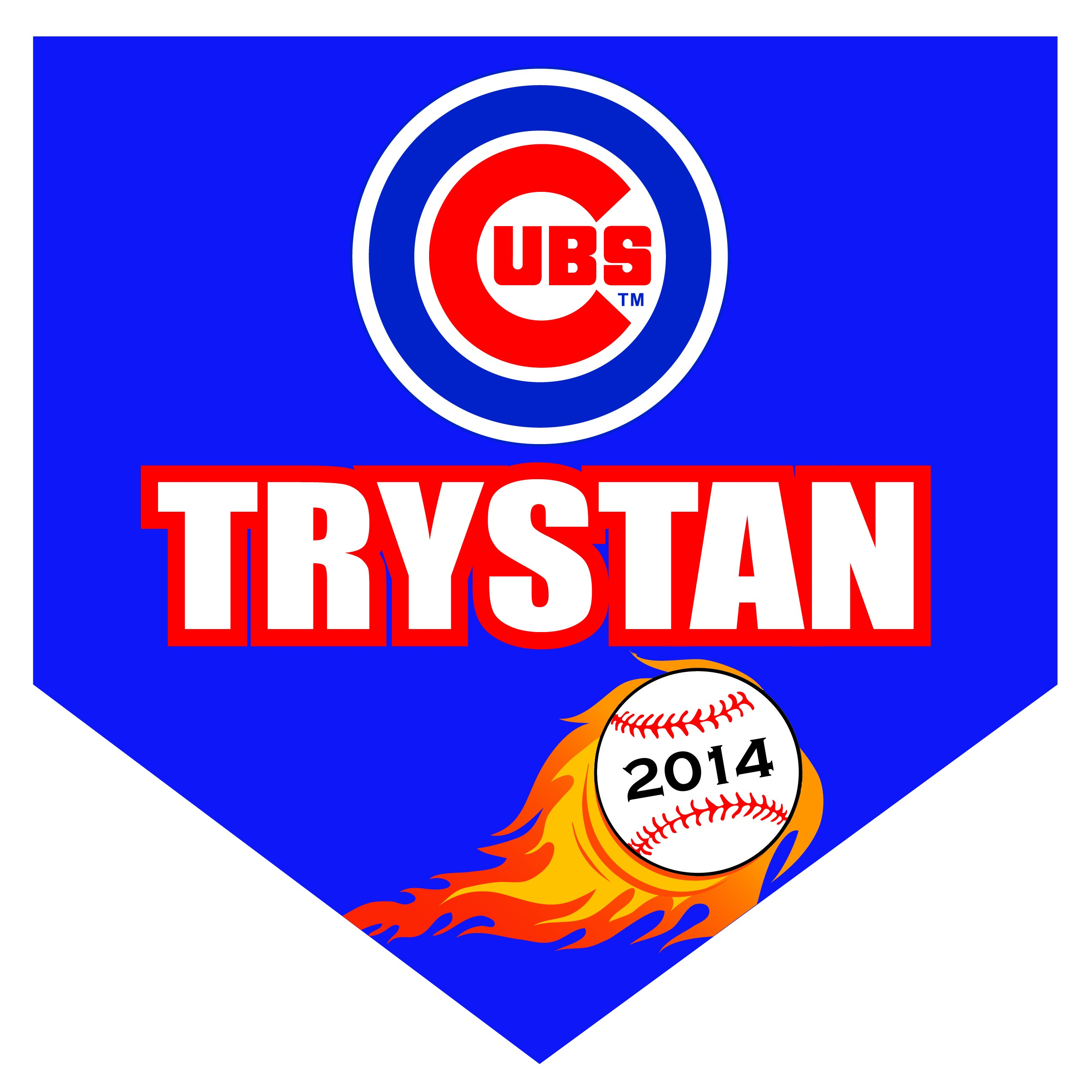 Cubs Home Plate Individual Team Pennant