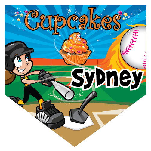 Cupcakes Home Plate Individual Team Pennant