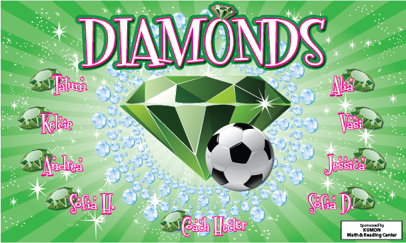 Diamonds Custom Vinyl Banner