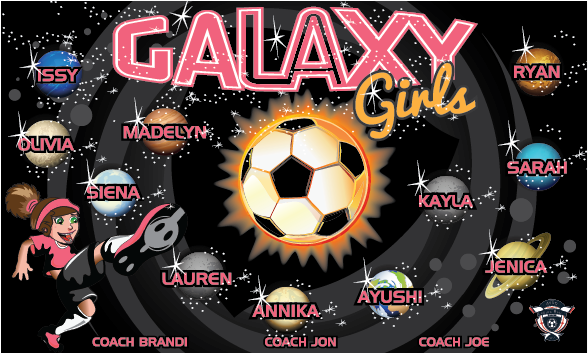 Galaxy Girls 1 Custom Vinyl Banner