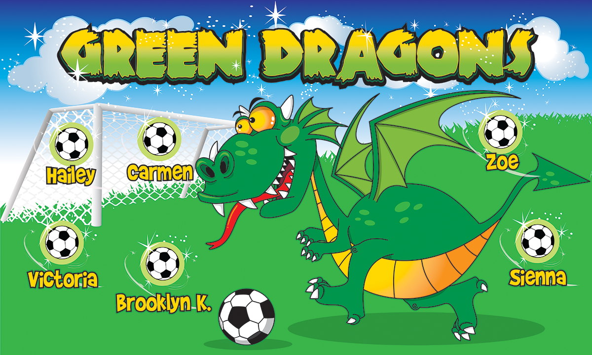 Green Dragons Banners Twitch Video Player Banners