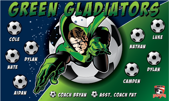 Green Gladiators Custom Vinyl Banner