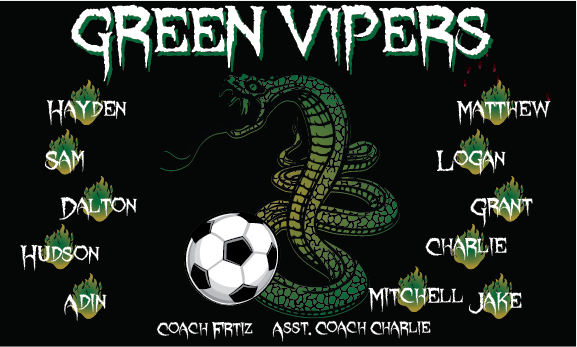 Green Vipers 1 Custom Vinyl Banner