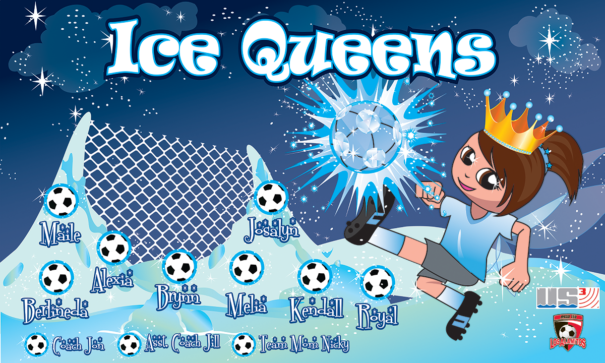 Ice Queens 2 Custom Vinyl Banner