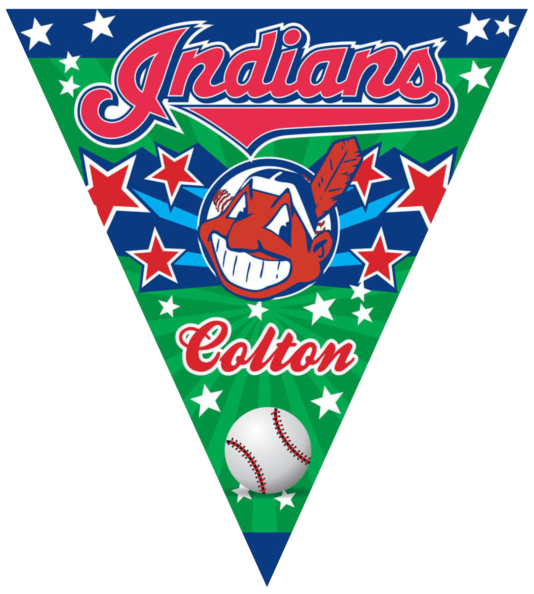 Indians Triangle Individual Team Pennant