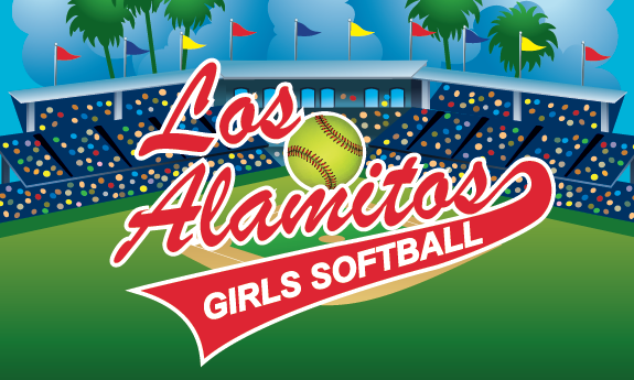 Los Alamitos Girls Softball Custom Vinyl Banner Custom