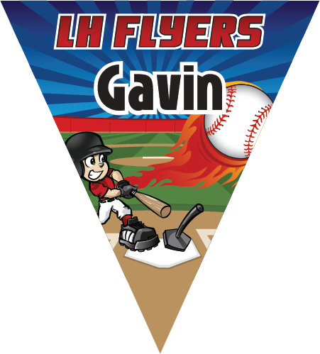 LH Flyers Triangle Individual Team Pennant
