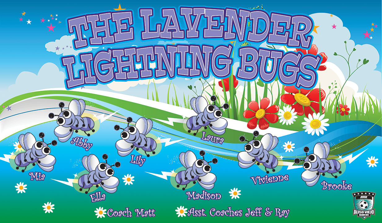 The Lavender Lightning Bugs Custom Vinyl Banner
