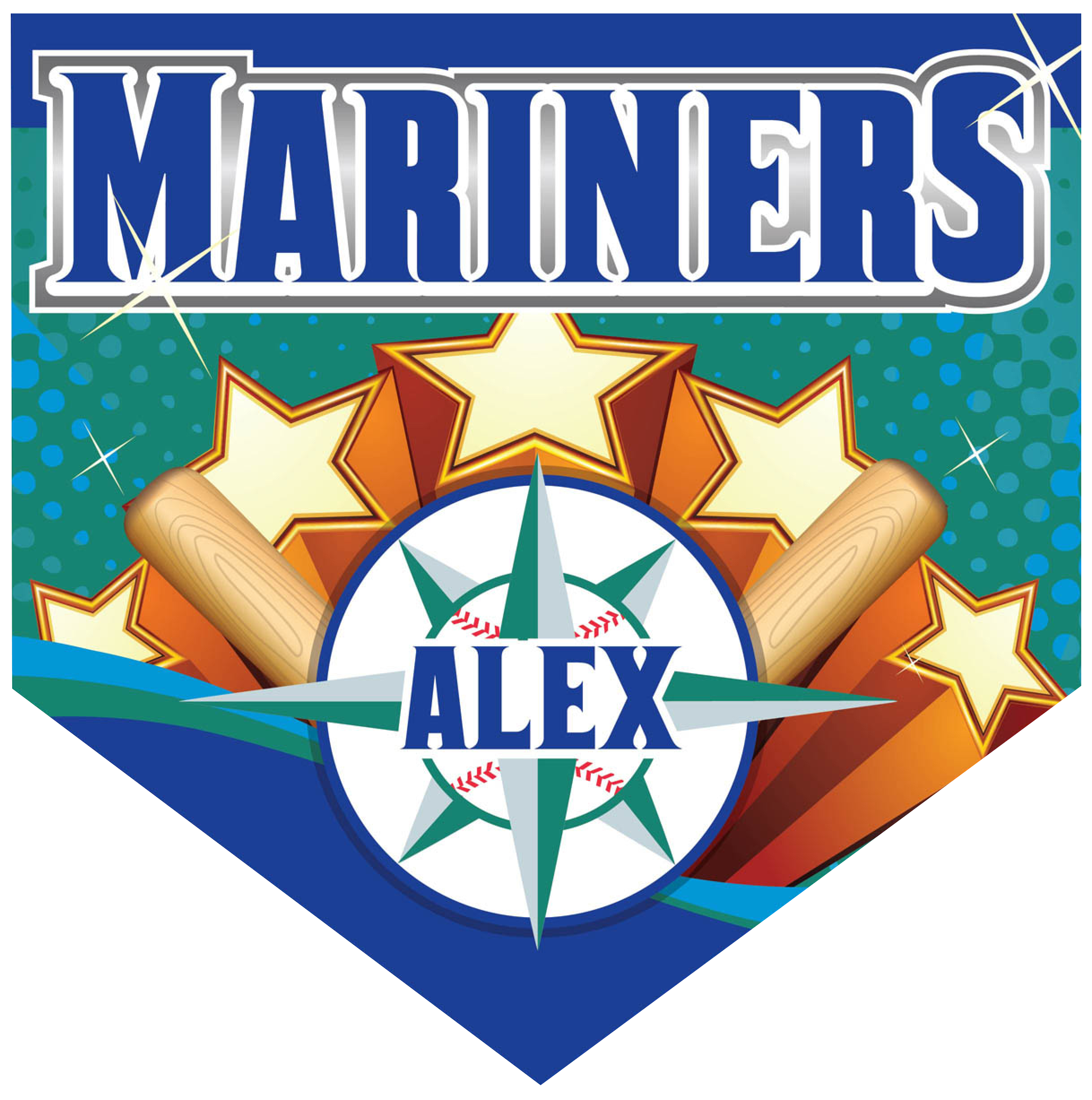 Mariners Home Plate Individual Team Pennant