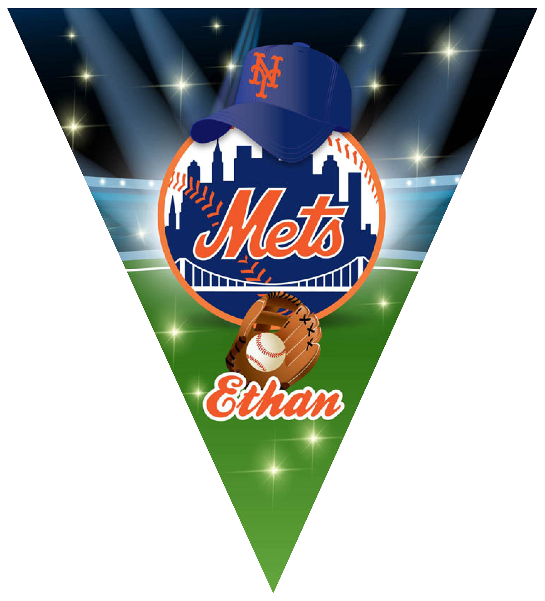 Mets Triangle Individual Team Pennant