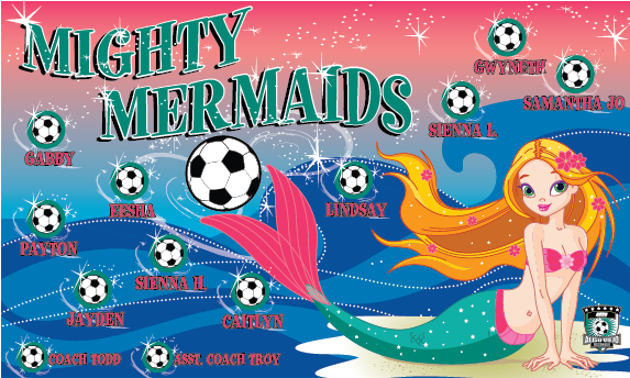 Mighty Mermaids 1 Custom Vinyl Banner