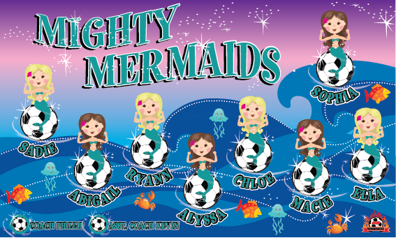 Mighty Mermaids 2 Custom Vinyl Banner