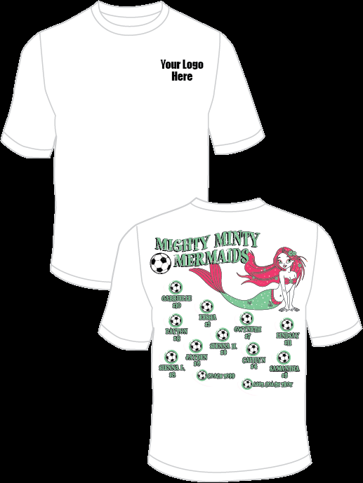Mighty Minty Mermaids Practice T-Shirt