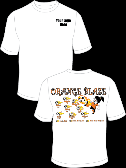 Orange Blaze (Girl) Practice T-Shirt
