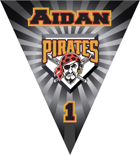 Pirates Triangle Individual Team Pennant