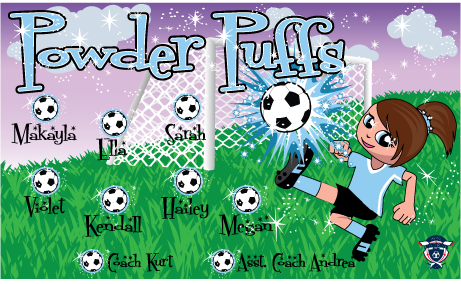 Powder Puffs Custom Vinyl Banner