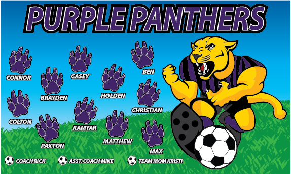 Purple Panthers 2 Custom Vinyl Banner