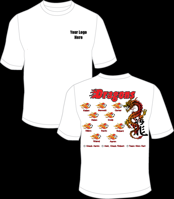 Dragons (Red) Practice T-Shirt
