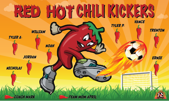 Red Hot Chili Kickers Custom Vinyl Banner