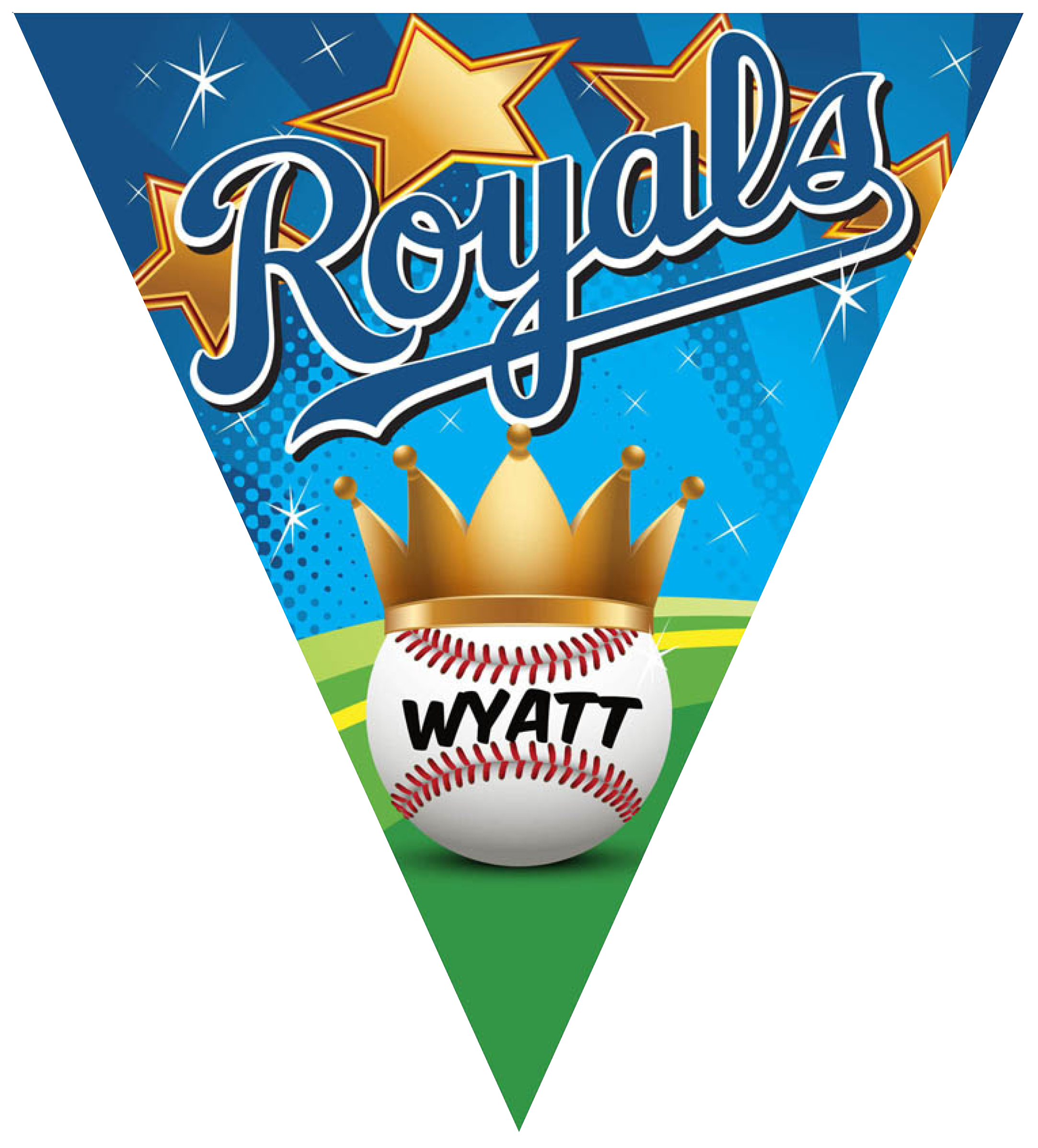 Royals Triangle Individual Team Pennant