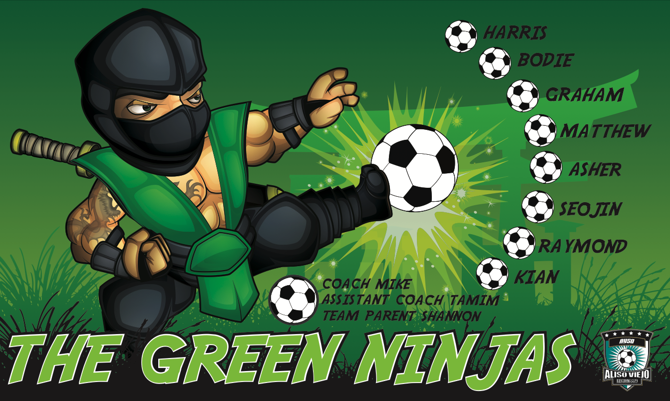 The Green Ninjas 2 Custom Vinyl Banner