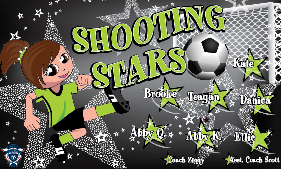 Shooting Stars Custom Vinyl Banner