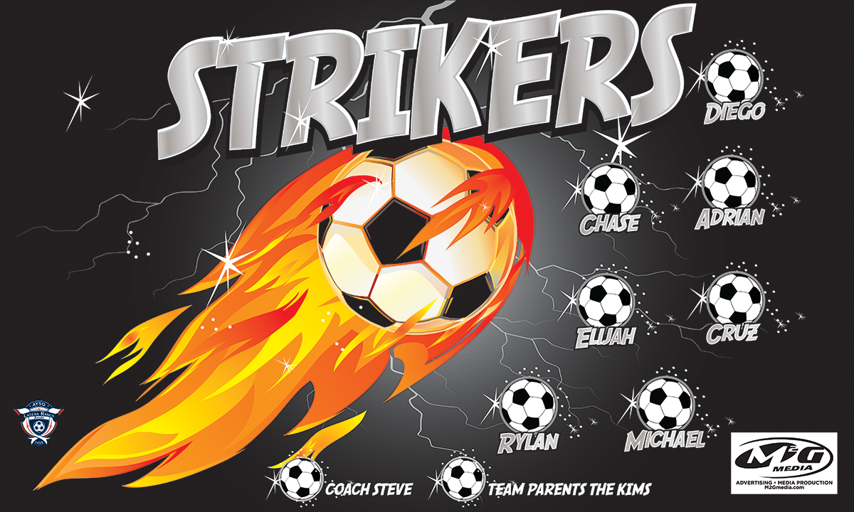 Silver Strikers Custom Vinyl Banner