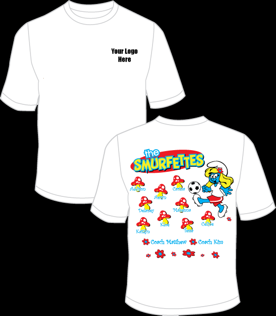 The Smurfettes Practice T-Shirt