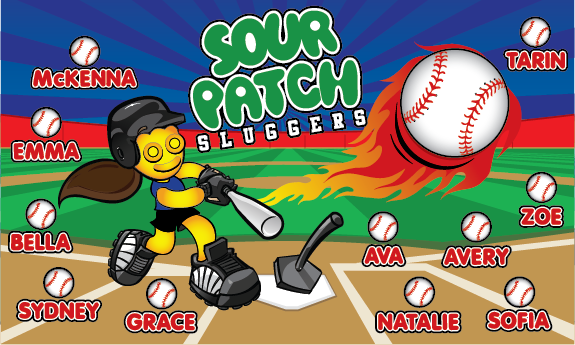 Sour Patch Sluggers Custom Vinyl Banner