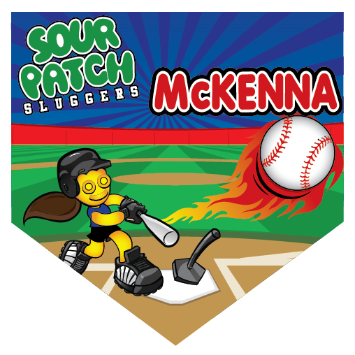 Sour Patch Sluggers Home Plate Individual Team Pennant