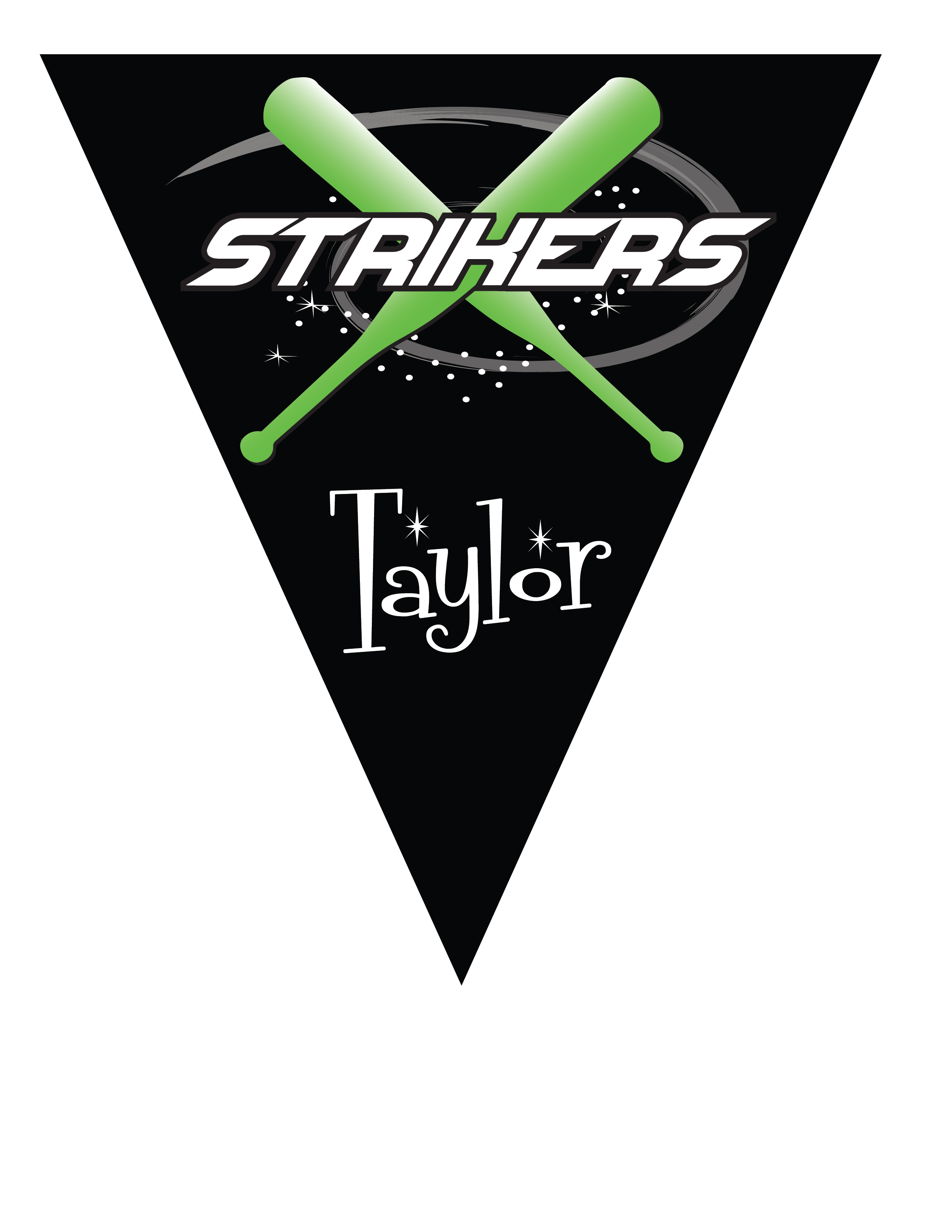Strikers Triangle Individual Team Pennant