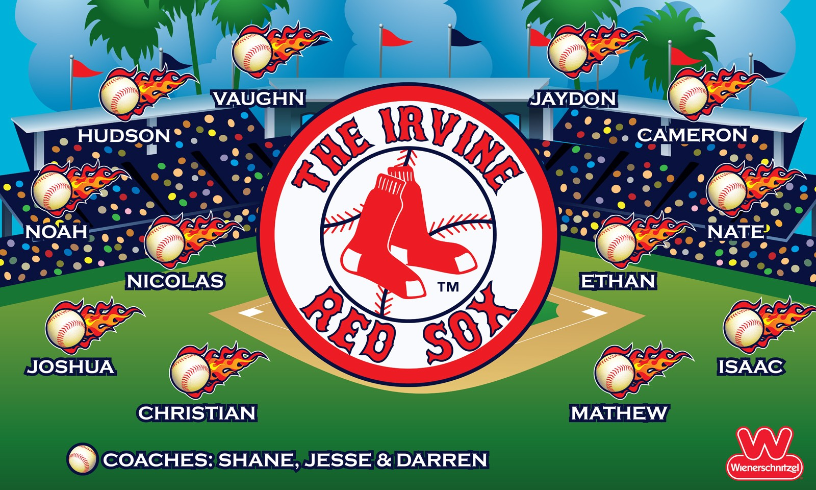 The Irvine Red Sox Custom Vinyl Banner