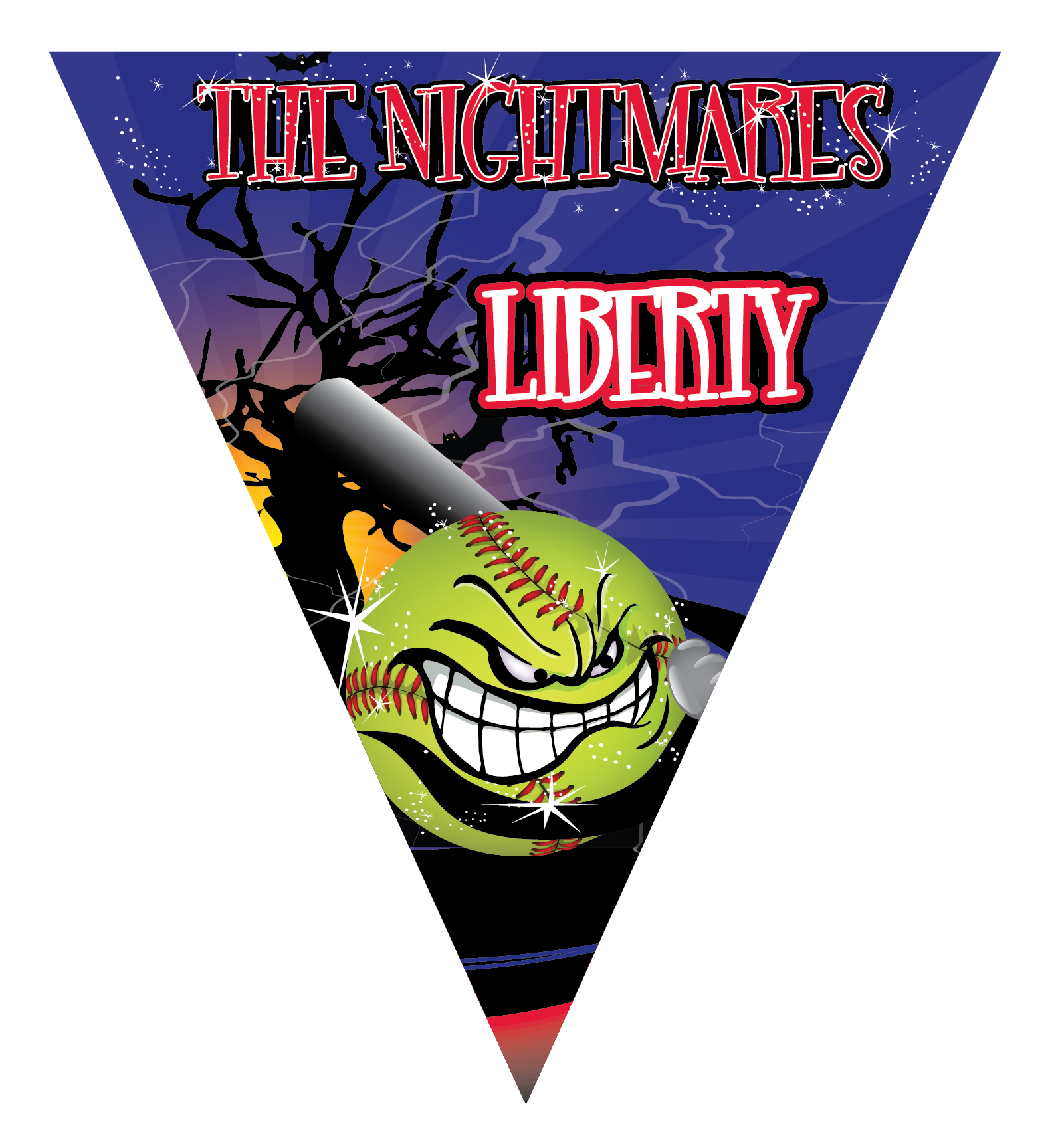 The Nightmares Triangle Individual Team Pennant