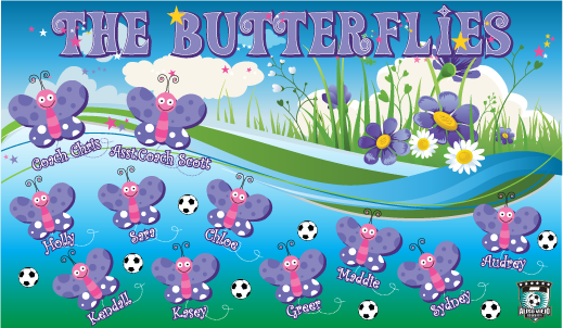 The Butterflies Custom Vinyl Banner
