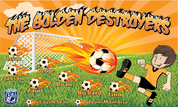 The Golden Destroyers Custom Vinyl Banner