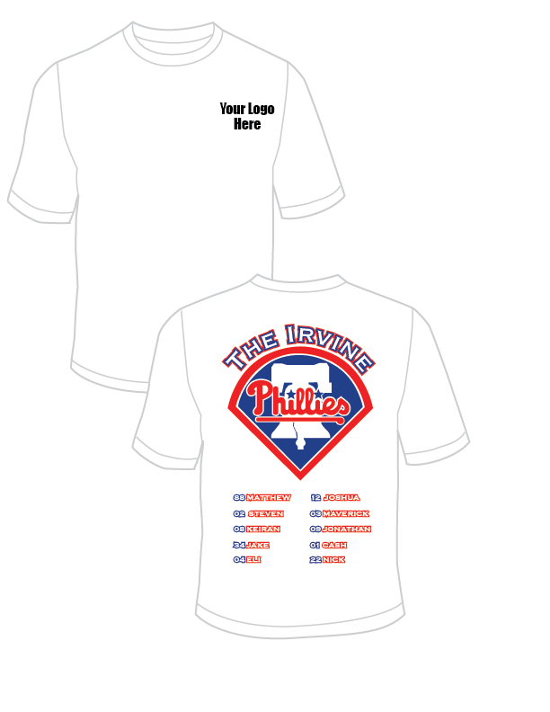 The Irvine Phillies Rangers Practice T-Shirt