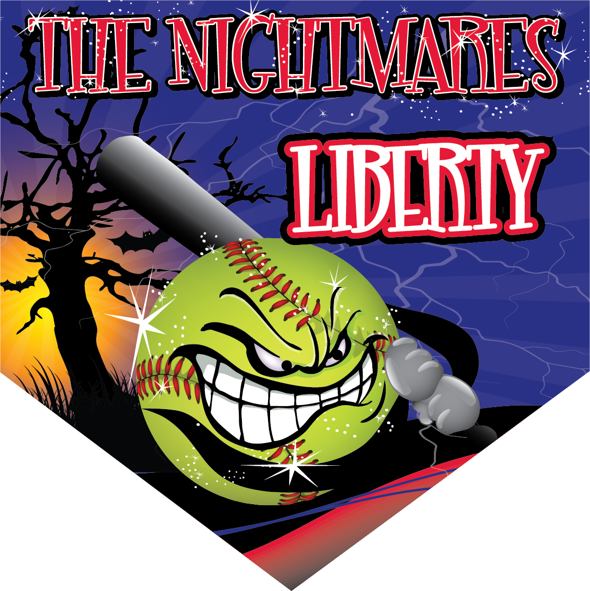 The Nightmares Custom Home Plate Banner