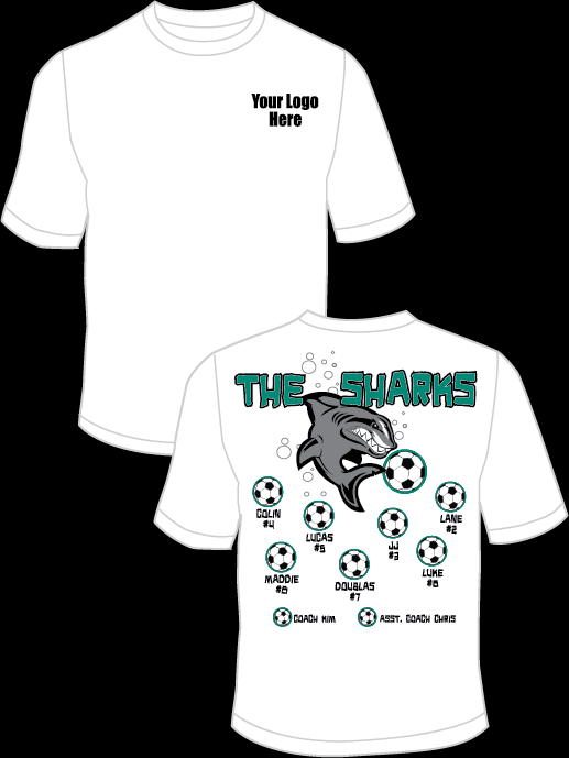 The Sharks - Turquoise Practice T-Shirt