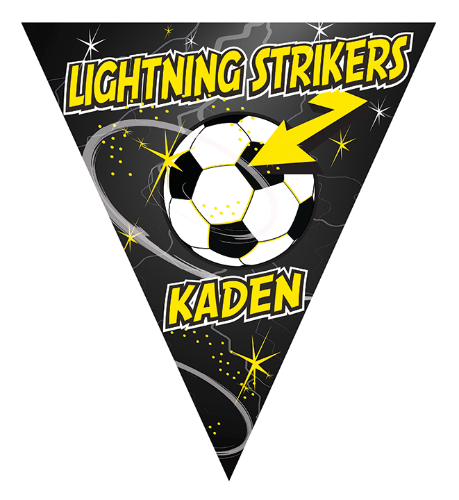 Lightning Strikers Triangle Individual Team Pennant